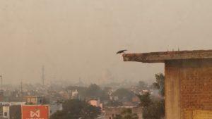 Agra im SmogChono im Flugzeug - Reisebericht Indien 2019