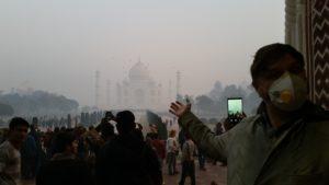 Taj Mahal im SmogChono im Flugzeug - Reisebericht Indien 2019