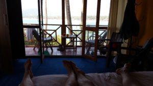 Ausblick aus dem Bungalow in Palolem - Indien Reisebericht 2019 - Goa
