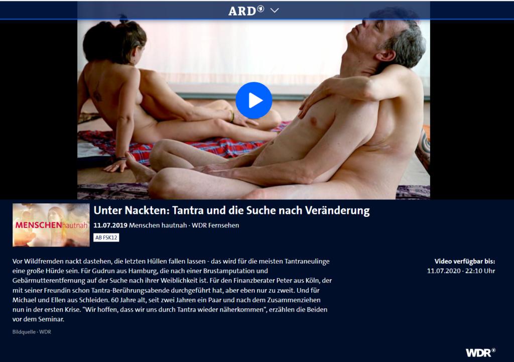 Screenshot: Unter Nackten: Tantra und die Suche nach Veränderung - WDR - ARD-Mediathek