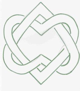 Symbol des Ordens der geeinten Herzen